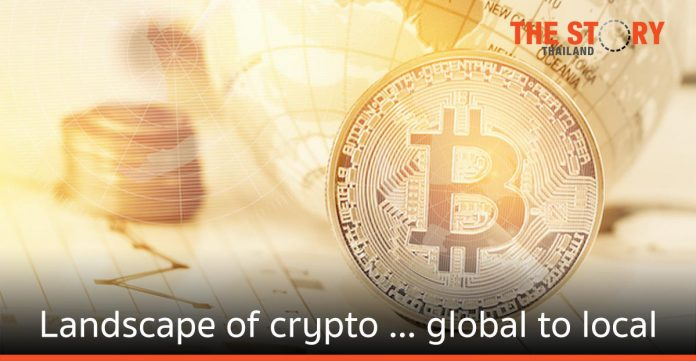 Landscape of crypto right now global to local